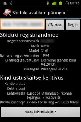 Sõiduki Avalikud Päringud Androidile