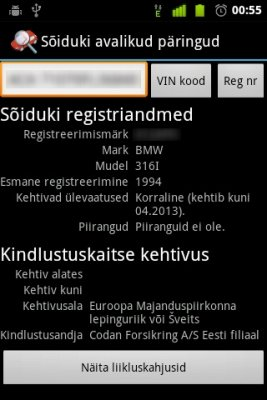 Vehicle Public Queries for Android